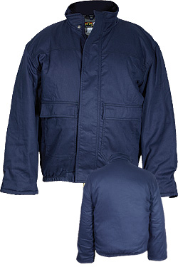 Insulated Bomber Jacket - Navy Blue
