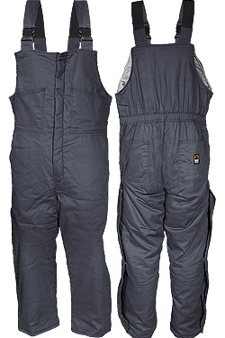 Insulated Bib Overall - Gray