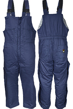 Insulated Bib Overall - Navy Blue