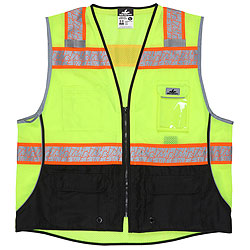 Surveyor's Class 2 Vest Lime/Shaded Black