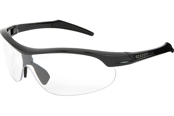 Black with Clear Lens - Click Image to Close